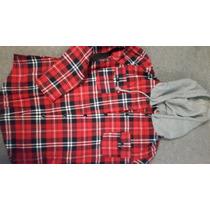 2 Camisas De Franela Y Algodón Con Capucha Talle M/l C/u1000