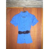 Camisa Ejecutiva, Con Cinto Elastizado De Charol