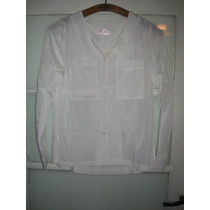 Hermosa Blusa Blanca Escote Redondo Talle Xs (nueva)