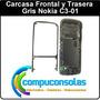 Carcasa Frontal Y Trasera Gris Nokia C3-01