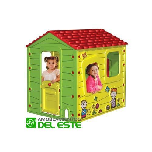 Casita Infantil De Pl Stico Rosa Para Jard N Feber Of Casitas - Casitas-infantiles-plastico
