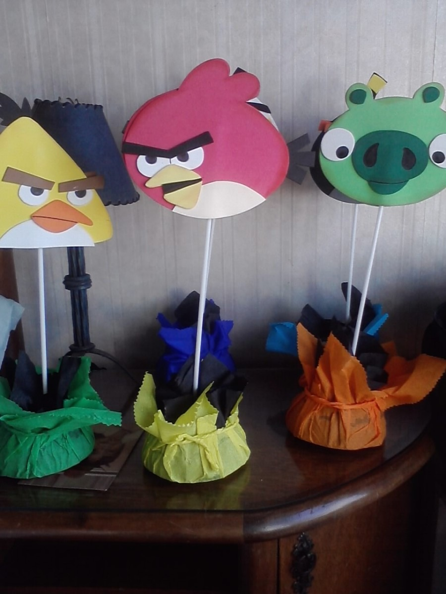 Centros de mesa infantiles angry birds imagui for Mesas cumpleanos infantiles