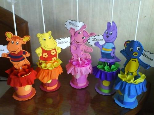 Centro de mesa fiesta infantil de Backyardigans - Imagui