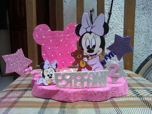 Centro de mesa para cumpleaños de Minnie - Imagui