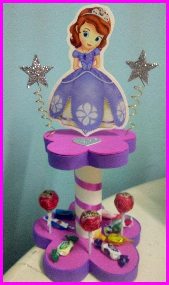 centros de mesa infantiles princesa sofia