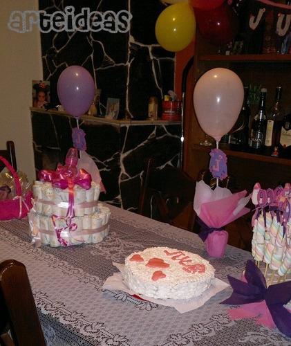 Centros De Mesa Para Baby Sower, Nacimiento O Primer Año!!! - $ 65 ...