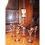 Antiguo, Hermoso Juego De Seis Copitas Para Licor Y Botellon