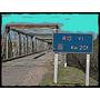 Puente De La Ruta 6 Sobre El Rio Yi - Lámina 45 X 30 Cm.