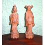 Lote 2 Estatuas Chinas De Monjes.