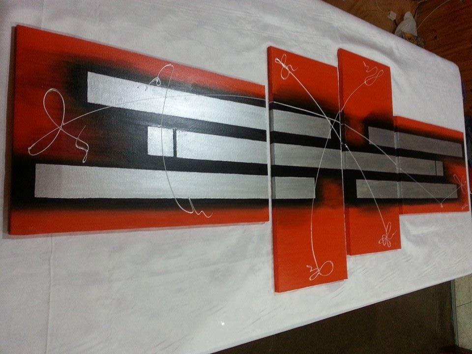 Cuadros modernos dipticos tripticos diseno pintados a mano - Cuadros tripticos ...