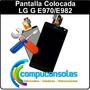Pantalla Display Vidrio Lg Optimus G E975 E977 E987 Colocada
