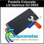 Pantalla Lcd Con Táctil Y Vidrio Lg G3 D855 Colocada!!