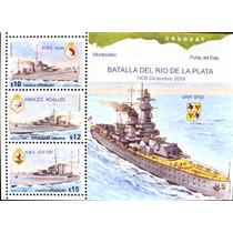 Osl Hojita 89 Sello Uruguay Graf Spee Barco De Guerra Alemán