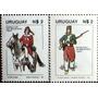 Osl Sellos Uruguay 1080 Al 1081. Uniformes Ejército Caballo