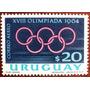 Osl Sello Aéreo 276 Uruguay Juegos Olímpicos Tokio 1964