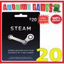 Tarjeta Steam 20 Dolares Original Computadora Online