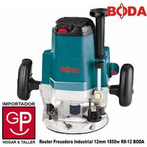 Router Fresadora Industrial 1/2 Pulg. 1850w R8-12 Boda