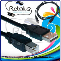 Cable Usb 2.0 Para Impresora Y/o Multifuncion. Canon. Barato