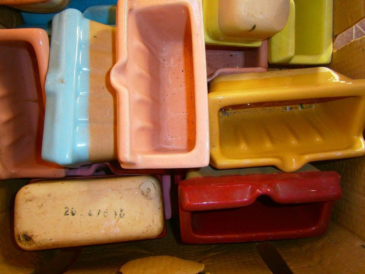 Accesorios De Baño De Porcelana:Jaboneras En Porcelana Para Baño Diversos Colores Nuevas – $ 50,00