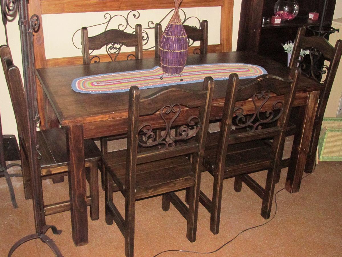 De vendo juego de comedor madera maciza 1 mesa cuadrada y for Comedor de madera