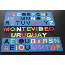 Puzzle Abecedario Goma Eva 47 Letras C/encastre Elige Color