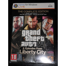 Gta Iv The Complete Edition (3 En 1)-- Pc Original Nuevo