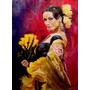 Baile Y Danza - Traje Bailarina Flamenco - Lámina 45 X 30 Cm