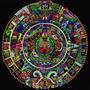 Calendario Maya - Arte Sicodelico - Lamina 45 X 30 Cm.