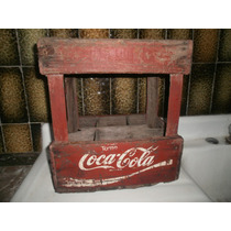 Antiguo Cajon Madera Alto Bot.1 Lt Familiar Colecc.coca-cola