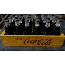 Cajon Con Botellas De Coca Cola Antiguo Miñatura