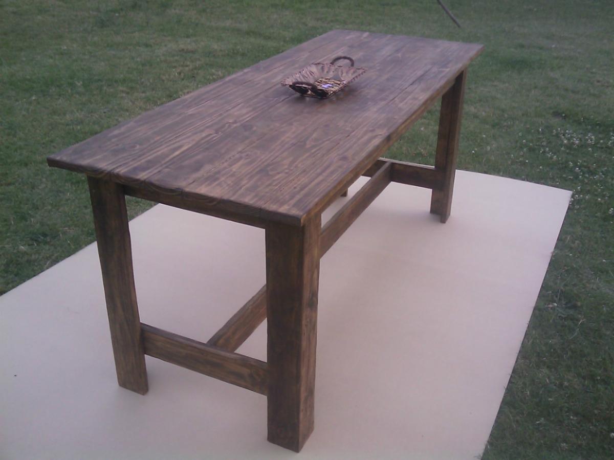 Mesas de madera para exterior car interior design - Mesas rusticas de madera maciza ...