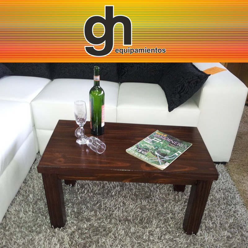 Mesa ratona moderna vidrio madera wengue minimalista for Madera wengue