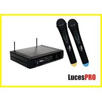Microfono Inalambrico Doble Pack Uhf Promocion Skp Uhf 261