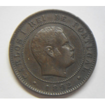 Reino De Portugal Moneda Cobre Antiguo 10 Reis Año 1892 Leer