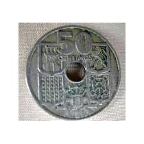 Moneda De España Año 1949 De 50 Centimos