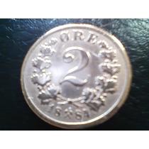 Antigua Moneda Noruega 2 Ore 1884