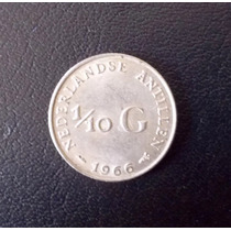 Antillas Holandesas, 1/10 Gulden - 1966 (plata)