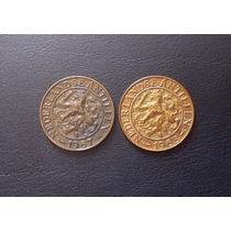 Antillas Holandesas - 2 Monedas De 1 Cent (1967 - 1968)