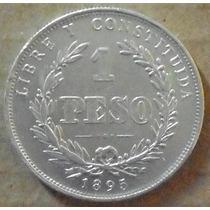 Uruguay 1895 - 1 Peso De Plata