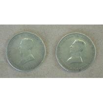 2 Monedas Uruguaya 50 Centavos De 1917