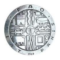 Moneda Plata Fao 1969 1000 Pesos Uruguay