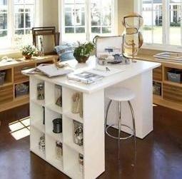 Mueble Isla Para Cocina. Stunning Cocinas Azules Y Blancas With ...