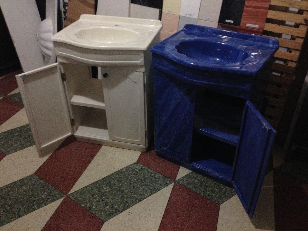 Muebles Para Baño Uy:Mueble De Marmolina Para Baño Varios Colores Con Lavatorio – $ 8300