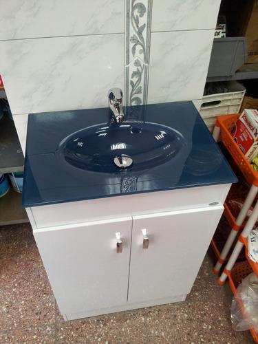 Bachas Para Baño De Vidrio:mueble grande para baño bacha vidrio color azul piedra