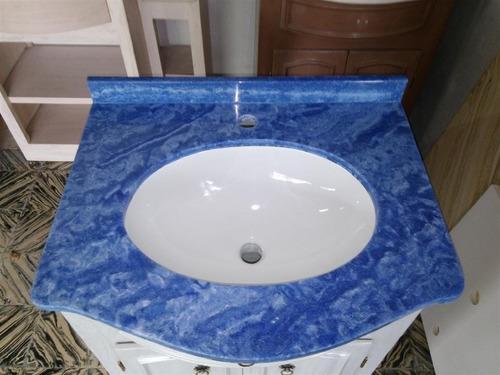 Bachas Para Baño Con Mueble:Mueble Para Baño En Marmol Sintetico Con Mesada Y Bacha – $ 10850,00
