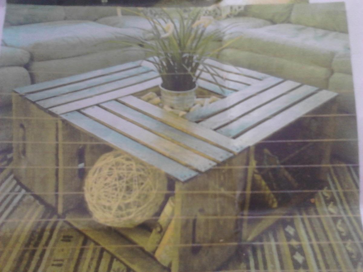 Pin muebles hechos con tarimas palets de madera ajilbabcom for Diseno de muebles con cajones de verduras