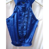 Preciosa Blusa Musculosa En El Azul De Moda Talle S