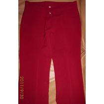 Pantalon Vestir Dama Panama Rojo Semi Oxford Nuevo!! Divino!