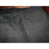 Pantalón Vestir Corte Jean Pespuntes Verdes.original! Subast