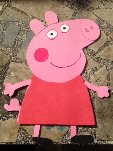 Decoracion Cumplea?os Peppa Pig ~ peppa pig en goma eva cotillon cumplea os decoracion